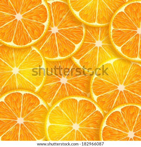 background consisting of orange slices - stock vector