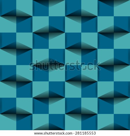 Background 3d effect pattern  - stock vector