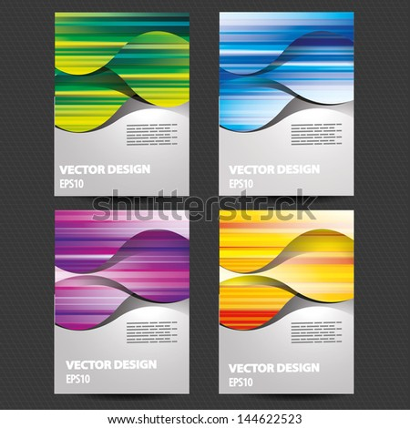 background design for brochure, flyer, cover - stock vector