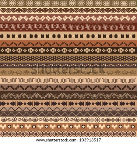 background ethnic pattern with different reasons - stock vector