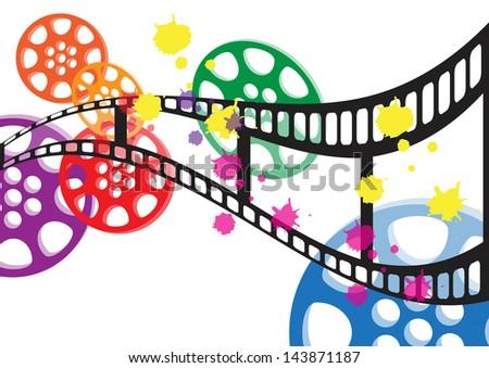 Background film vector - stock vector