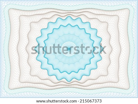 Background for diploma, certificate or voucher. - stock vector