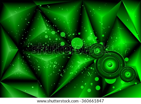 Background for disco and musical event flyer. Ideal for poster and music background. - stock vector