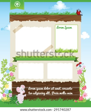 Background for kid template - stock vector