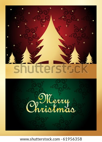 background for merry christmas celebration, vector illustration - stock vector