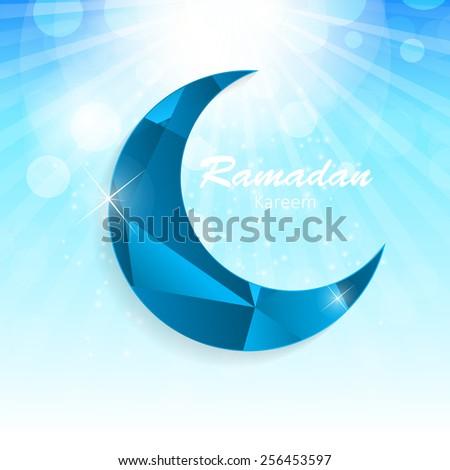 Background for Muslim Community Festival Vector Illustration EPS10  - stock vector
