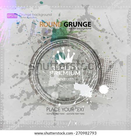 background for poster in grunge style. Grunge print for t-shirt. Abstract background. Texture background. Abstract shape - stock vector