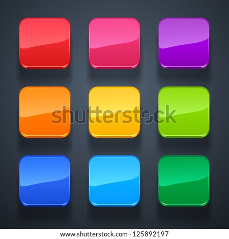 background for the app icons-glass set - stock vector