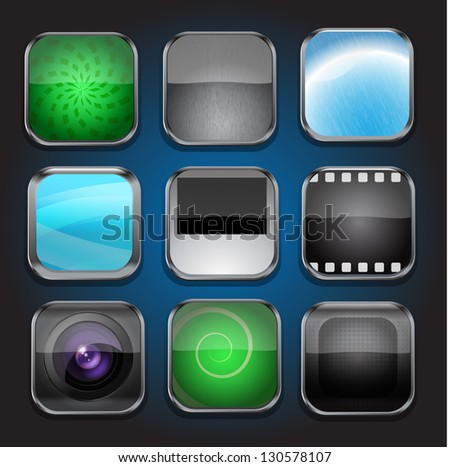 Background for the app icons-part 2 - stock vector