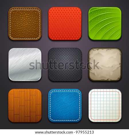 background for the app icons-part 4 - stock vector