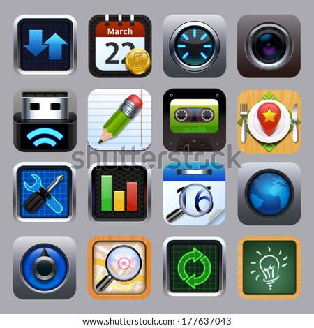 Background for the app icons set vector - stock vector