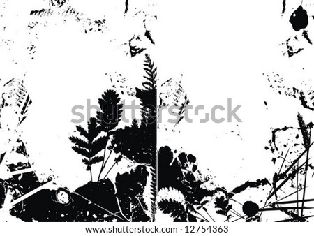 background from the disappointed plants - stock vector