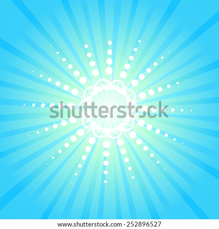 Background glow stylized sun rays. Vector - stock vector