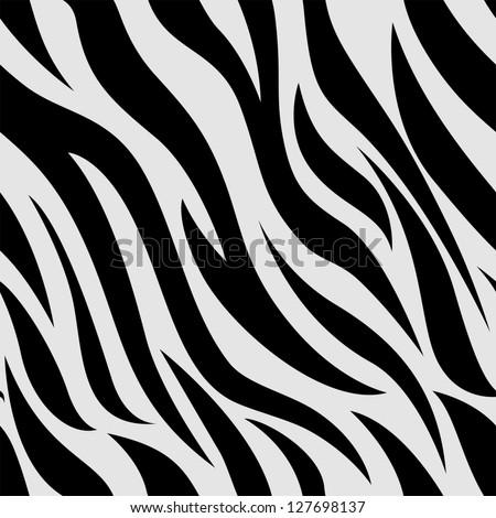 Background Illustration of Zebra Animal Print - stock vector
