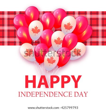 Background in National Colors of the Canada. Vector card for Canada Day - stock vector