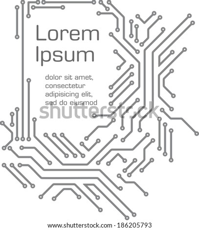 Background in PCB-layout style  - stock vector
