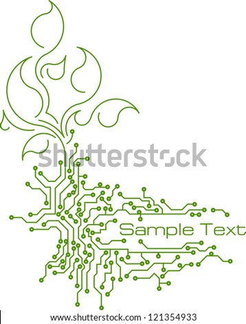Background in PCB-layout style. Vector. - stock vector