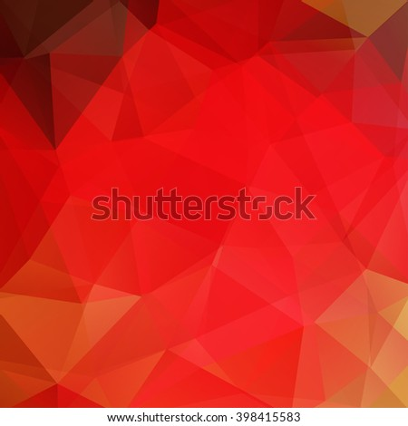 Background made of triangles. Square composition with geometric shapes. Eps 10. Red color.  - stock vector