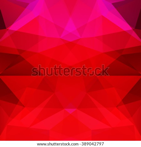 Background made of triangles.  Square composition with geometric shapes. Eps 10. Red, pink colors.  - stock vector