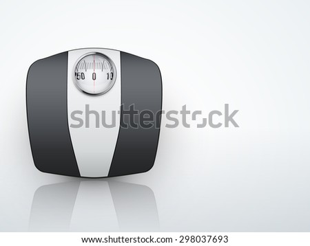 Background of bathroom scale. Vector Illustration isolated on white background. - stock vector