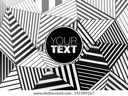 background of black and white striped triangles for graphic design - stock vector