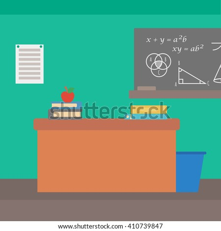 Background of classroom. - stock vector