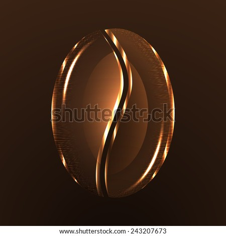 Background of coffee bean. Vector for design. - stock vector