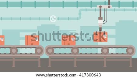 Background of conveyor belt. - stock vector