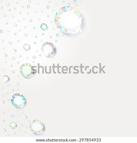 Background of diamonds for design in vector - stock vector