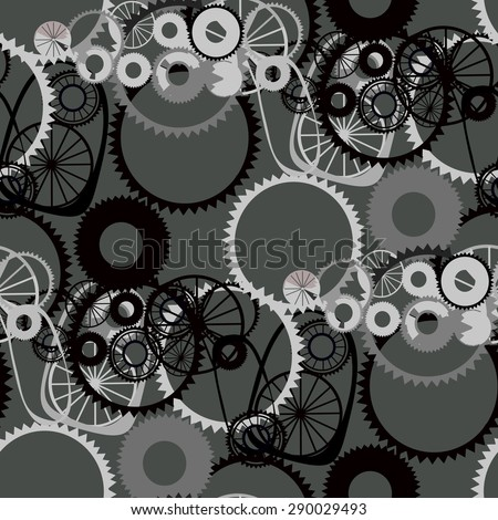 Background of gears. Seamless. - stock vector