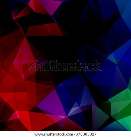 Background of geometric shapes. Colorful mosaic pattern. Vector EPS 10. Vector illustration. Black, red, blue, green colors.  - stock vector