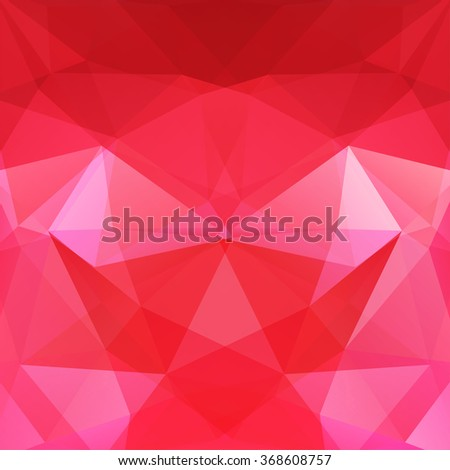 Background of geometric shapes.  Red mosaic pattern. Vector EPS 10. Vector illustration - stock vector