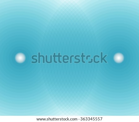 background of intersecting cyan spheres. vector illustration - stock vector