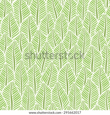 Background of leaves. Vector pattern. - stock vector