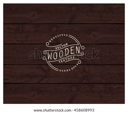 Background of realistic wooden planks. Tricolor, simple, usable design. The color of wenge wood - stock vector