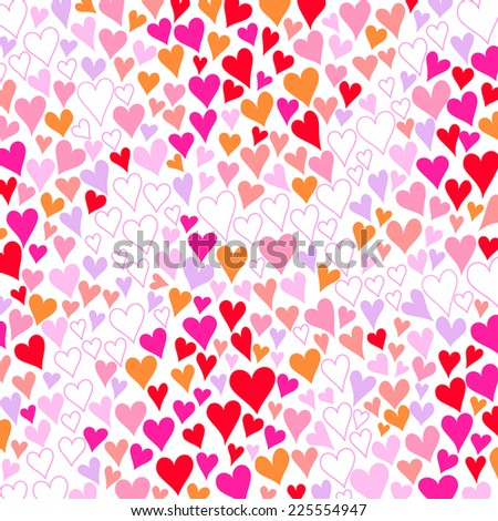 Background of romantic heart pattern - stock vector
