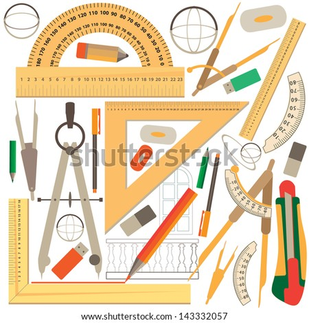 Background of rulers. - stock vector