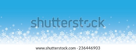background of snowflakes winter illustration - stock vector