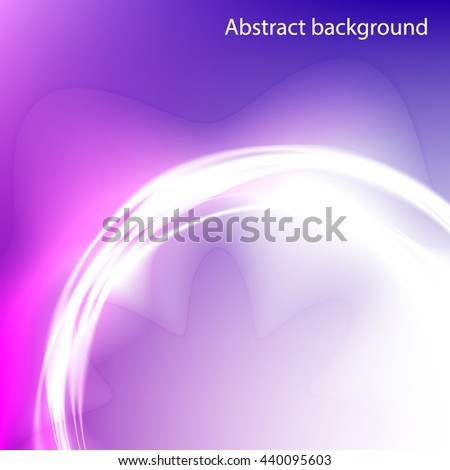 Background of the circles with the glow effect . Circles of light with a magical glow . Pink abstract background . - stock vector