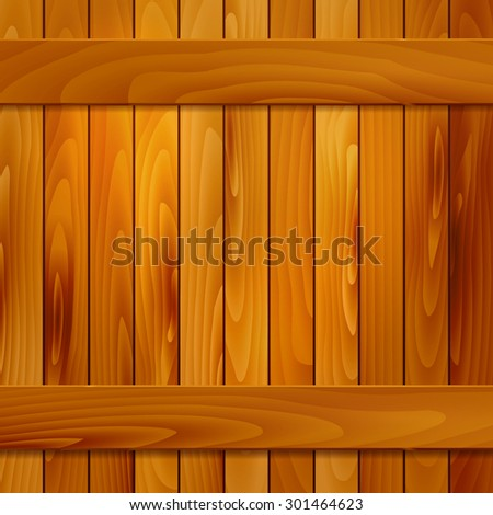 Background of wooden planks with place for your message - vector illustration - stock vector