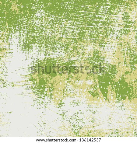 Background - old brushed grunge texture. EPS10 vector. - stock vector