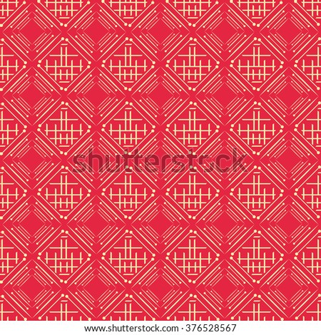Background pattern. Asian style, red - stock vector