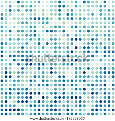 Background pattern made of colorful circles. Seamless design. - stock vector