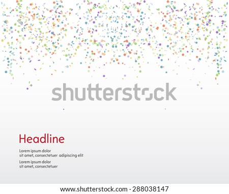 Background. Serpentine and confetti. Isolated. Vector illustration. - stock vector