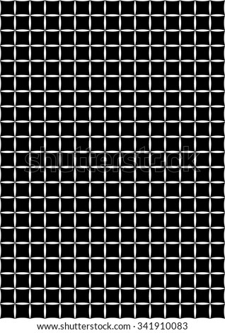 background squares in circles. Vector seamless pattern. Modern stylish texture. Repeating geometric tiles - stock vector