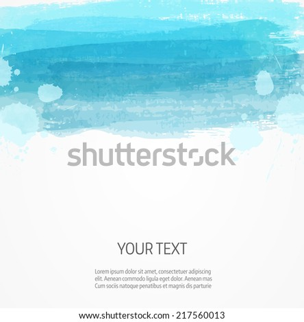 Background template with watercolor imitation lines - stock vector