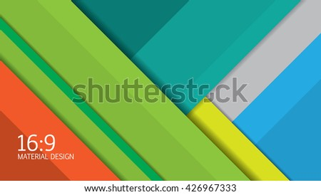Background Unusual modern material design. Format 16:9 . Vector Illustration. - stock vector