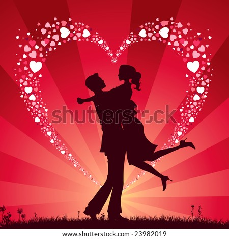 Background Valentine's Day - stock vector