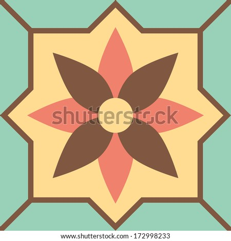 Background vintage flower. Seamless floral pattern. Abstract wallpaper. - stock vector