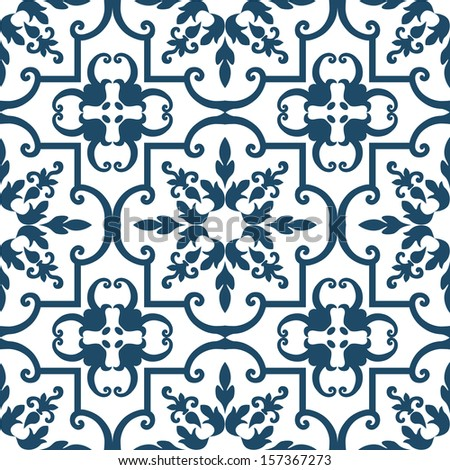 Background vintage flower. Seamless floral pattern. Abstract wallpaper. Texture royal vector. Fabric illustration. - stock vector